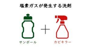 酸性洗剤と塩素系漂白剤
