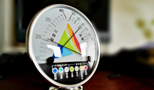 気温と室温計